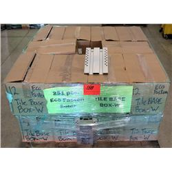 Contents of Pallet: Tile Base and Eco Fasteners