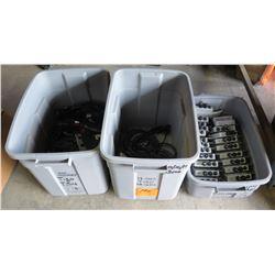 3 Plastic Tubs of Tigo MM-2ES75 Wireless Gateways, etc