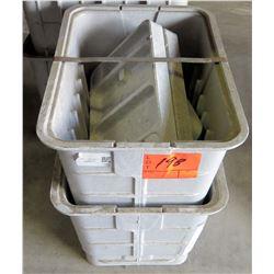 Qty 4 Fiberlite FL09 Rectangular Enclosure Box