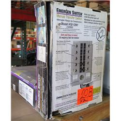 Qty 2 Connecticut Electric Manual Transfer Switch Model 10-12K1