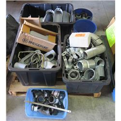 Contents of Pallet: Pipes, Electrical Supplies, Conduit, etc