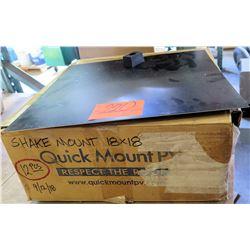 "Qty 12 Quick Mount 18"" x 18"" Shake Mount"