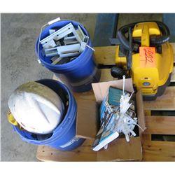 Dewault Vacuum, Hard Hat, Zip Ties, etc
