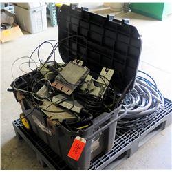 Contents of Pallet: Micro Inverters, Black Wheeled Case, Conduit, etc