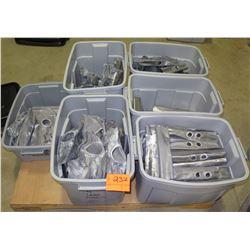 6 Plastic Bins with Lead Flashing