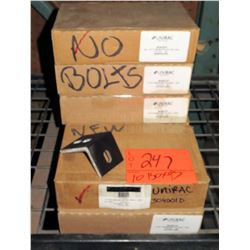10 Boxes of Unirac 304001D L Foot Mount (20 in each box, 200 total qty)