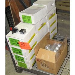 14 Boxes of Intermodule Clamps and Fast Jack