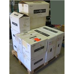 Contents of Pallet: Sunpower Disconnects and SPR-CU1000, etc