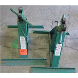 Pair of Greenlee 683 Screw Type Reel Stands