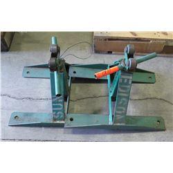 Pair of Greenlee 687 Screw Type Reel Stands
