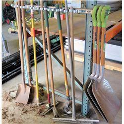 Shovels, etc. (rack not included)