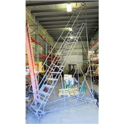 Large Rolling Warehouse Ladder (approx. 15 ft)