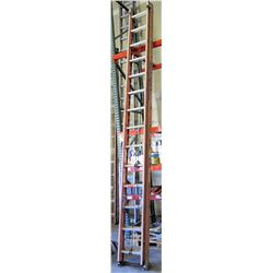Red Werner 28-Foot Extension Ladder