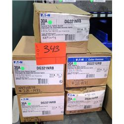 Qty 5 Boxes Eaton General Duty Safety Switch 30A