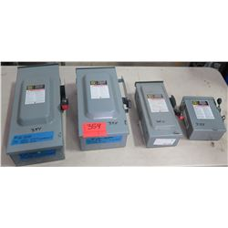 Qty 4 Misc Size Square D Heavy Duty Safety Switch Electrical Boxes