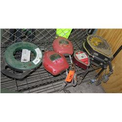 Qty 6 Retractable Lifelines: 2 Miller Falcon, 2 Guardian, Mighty Lite & Greenlee