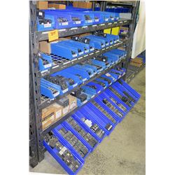 Shelf & Bins of Misc Size Square D Homeline Series Breakers, etc (see video for details)