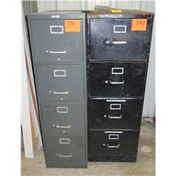 Qty 2 Metal 4 Drawer File Cabinets