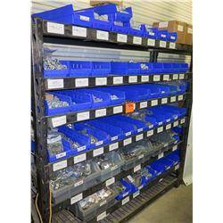 Shelf & Bins of Misc Size Conduit Straps, Compression Connectors, Couplings, Bushings, etc (see vide