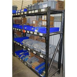 Shelf & Bins of Misc Size Conduit Straps, Dottie Bushings, EMT Couplings, Fittings, etc (see video f