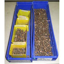 Qty 6 Plastic Containers of Ilsco Copper Split Bolts