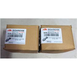 Qty 2 Boxes Ironridge T-Bold Bonding Hardware (200 per box=400 total)