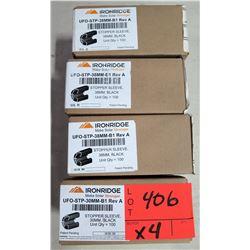 Qty 4 Boxes Ironridge Stopper Sleeves (100 per box=400 total)