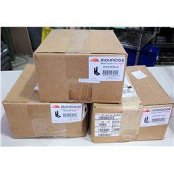 Qty 3 Boxes Ironridge Slotted L-Foot (100 per box=300 total)