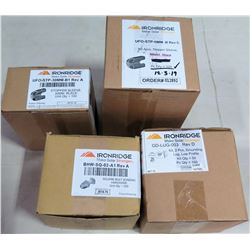 Qty 2 Boxes Stopper Sleeves (100/box), Square Bolt Bonding (200pc), Grounding Lugs (100pc)