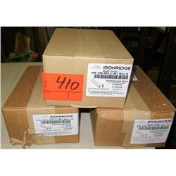 Qty 3 Boxes Ironridge Bonded Splice (20 per box=60 total)