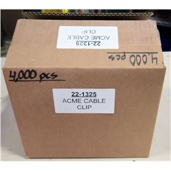 Box Acme Cable Clips (4000 pcs)