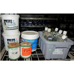 3 Buckets & Multiple Bottles Ideal Clear Glide Wire Pulling Lubricant