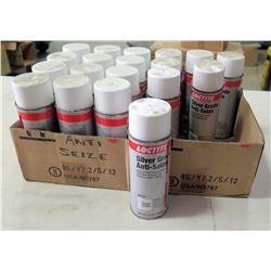 Qty 19 Spray Cans LocTite Silver Gray Anti-Seize Lubricant