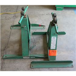 Qty 2 Greenlee 683 Screw-Type Reel Stand Capacity 2500 lbs.