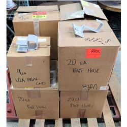 Qty 120 Roof Hooks & 9 Caps in Boxes