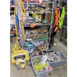 Shelf & Contents: Misc Rope, Retractable Lifelines, Guardian Rope Anchors, etc