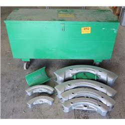 Greenlee 885 Hydraulic Bender Shoe Kit & Metal Case