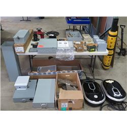 Multiple SunPower Electrical Boxes, Screw Cover Wireways, Misc Spools Wire, etc