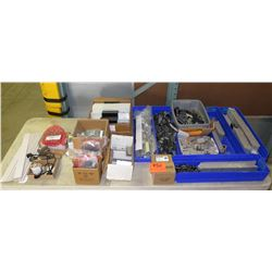 Multiple Bins  L  Foot Mills, Hinges, Dottie Weathertight Hubs, Solar Edge Inverters, etc