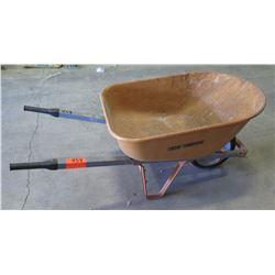 Metal 1 Tire Wheelbarrow w/ Rubber Handles