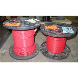 Qty 2 Spools 6 AWG Red PVC 600V Wire