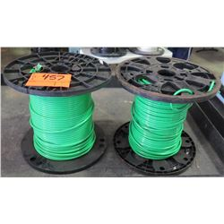 Qty 2 Spools 6 AVG Green Cable