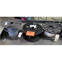 Qty 3 Spools Wire - White #10, Black #8 & Southwire 8 AWG PVC Cable
