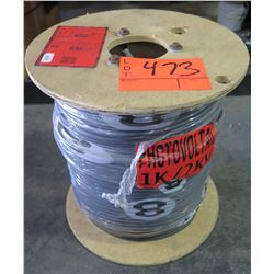 1 Spool #8-7 PV Black Wire