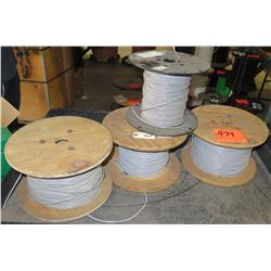 Qty 4 Spools 18AWG Gray Wire