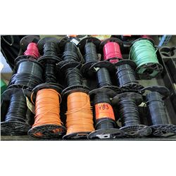 Qty 17 Small Spools #10 Copper Cable & Misc Wire