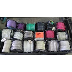Qty 18 Small Spools #12 & Misc Wire