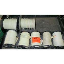 Qty 7 Spools #10 White Wire