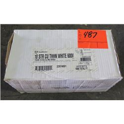 Box Southwire 10 STR CU THHN White 600V Wire (Box contains 2 spools of 500 ft, total 1000 ft)