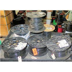 Qty 5 Spools #8 Black Wire